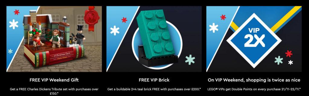 VIP Weekend trio of LEGO deals