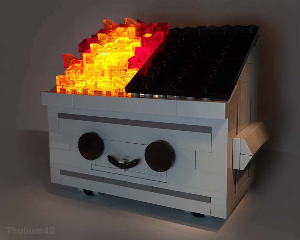 Brick Pic Of The Day Dumpster Fire