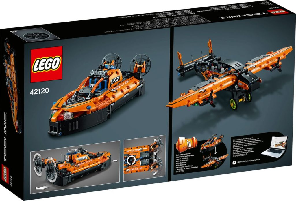 Lego 42120 Rescue Hovercraft Back Of Box