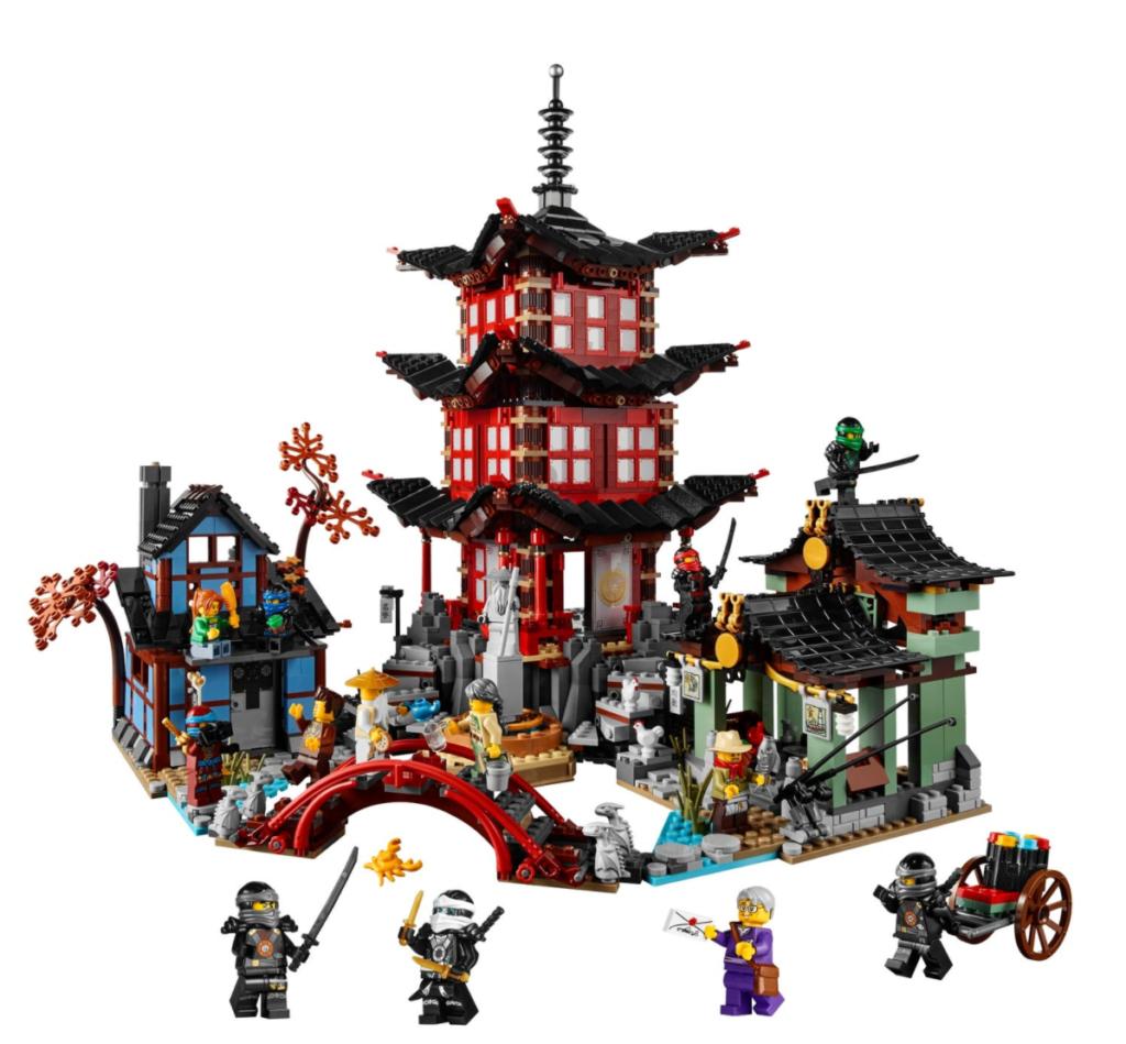 lego 70751 temple of airjitzu ninjago contents