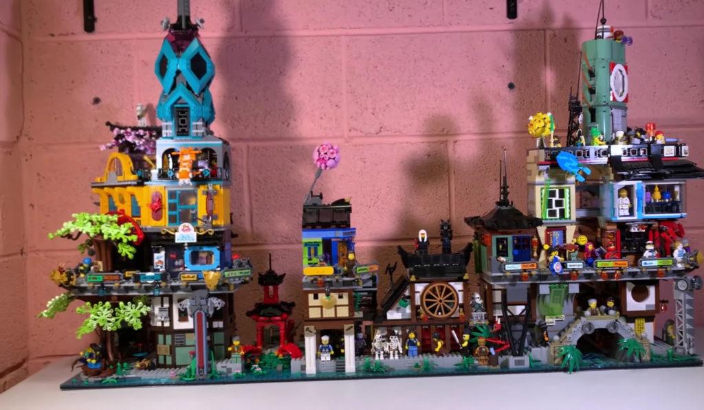 Lego 71741 Ninjago City Gardens Connected 70620 Reverse
