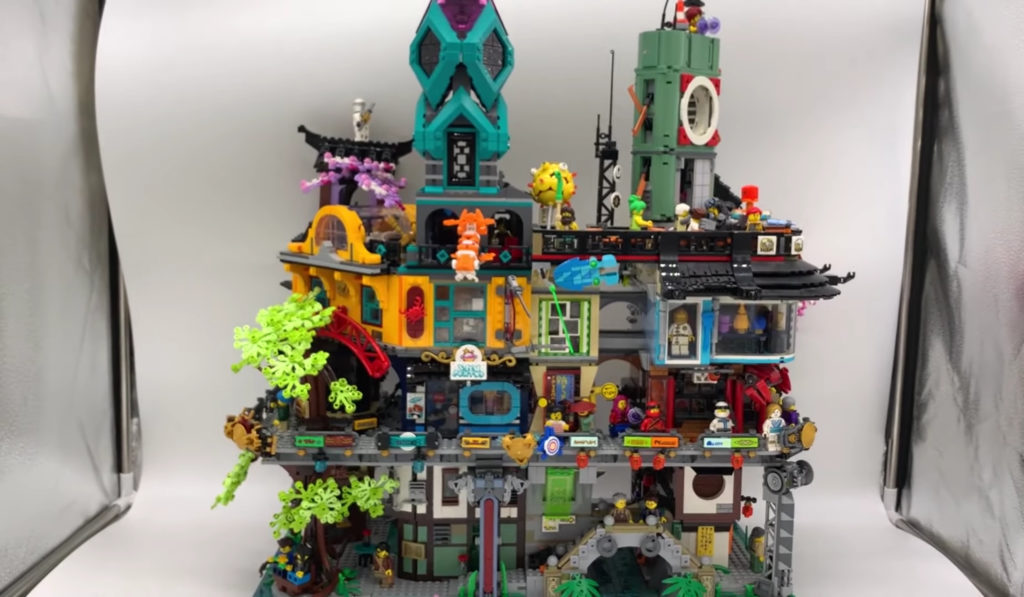 Lego 71741 Ninjago City Gardens Connected No Docks 70620 Reverse