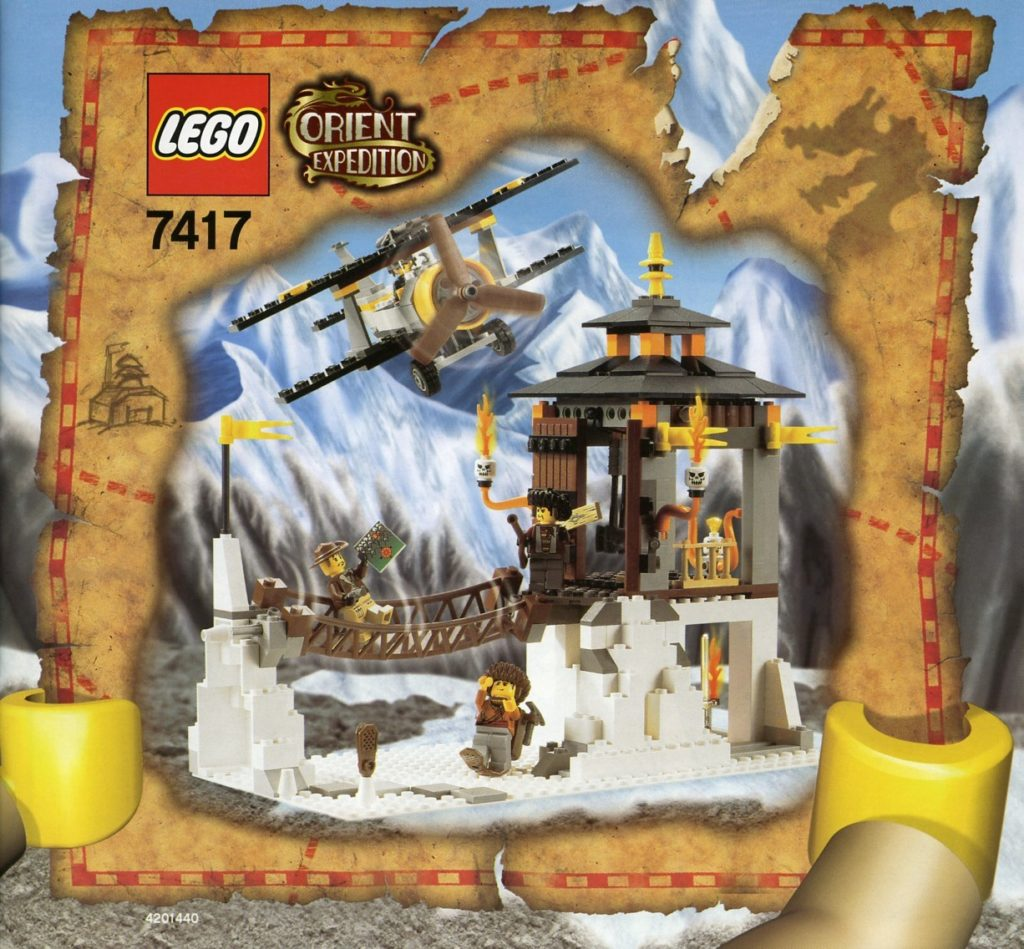 Lego 7414 Temple Of Mount Everest Box