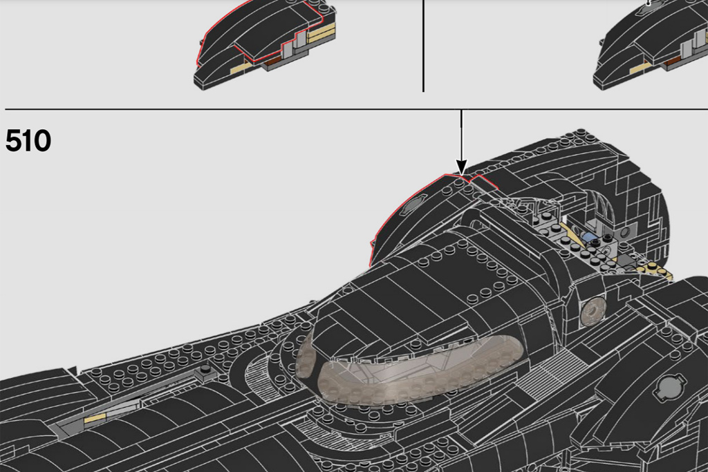 Lego Batman 76139 Batmobile Roof Change