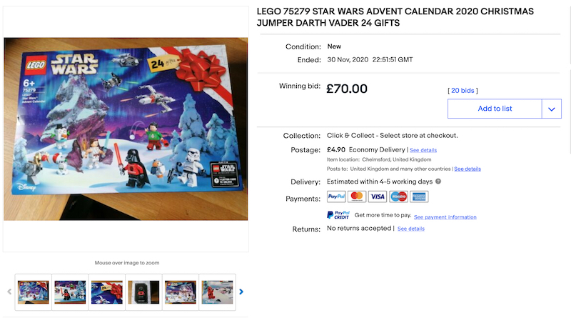Lego 75279 Star Wars Advent Calendar Ebay Title