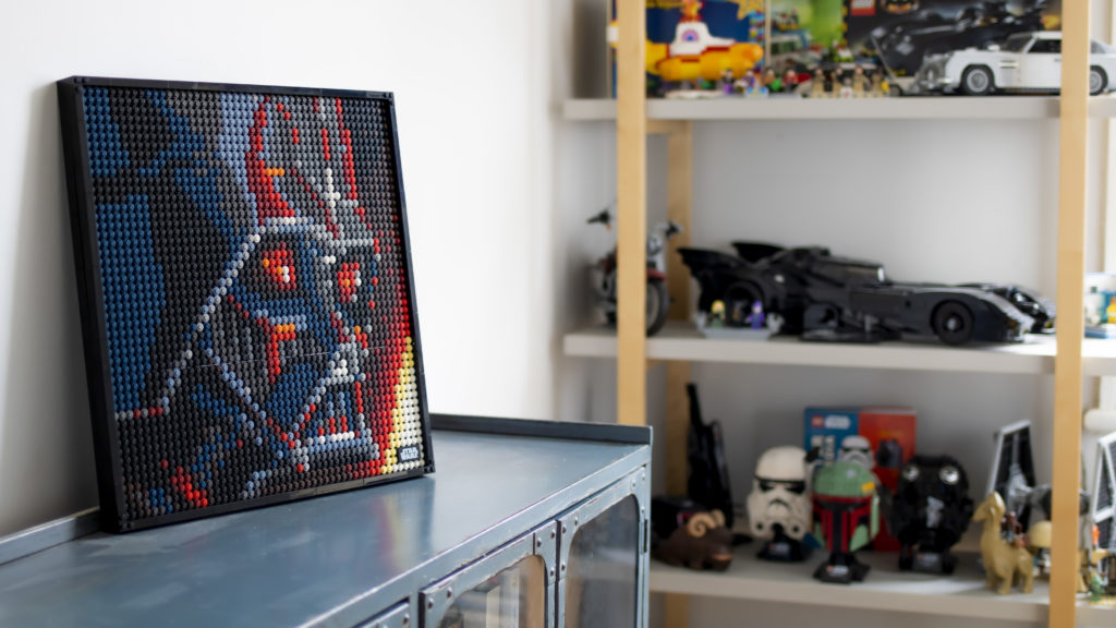 Vader Placed In Lego Room